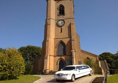 Wedding LImo At Bulwell Church